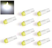 10 LAMPADINE T5 1.2w 1,2w  LED COB COLORE bianco ghiaccio CRUSCOTTI AUTO MOTO