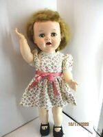 "Vintage 1950's  Ideal Saucy Walker Ideal 16"" plus Terri Lee dress"