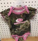 Mossy Oak Baby Camo One Piece W/ Pink Trim Size 24 Months 100% Cotton*