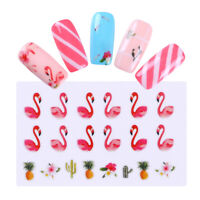 Nail Water Decals Manicure Flamingo Pattern Nail Art Transfer Stickers Decor DIY