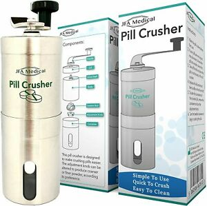 Pill Crusher/Grinder - Crushes Multiple Tablets/Pills into a fine Powder