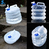 10L Collapsible Foldable Camping Emergency Water Container Storage Bag Carrier