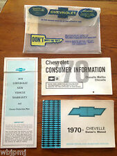 1970 Chevelle SS 396 350HP 4-Speed Factory GM Original Owners Manual Package