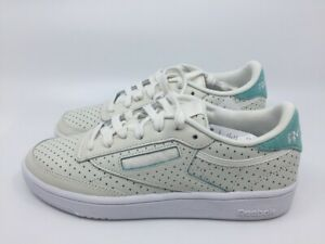 Reebok Club C 85 Popped Perf CM9277 chalk türkis weiß Damen Sneaker