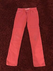 Good Condition Girls Pink Jeans Age 10-11