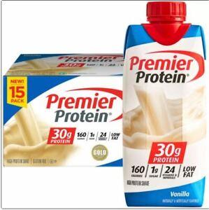 Premier Protein Shakes  Vanila 11 fl. oz., 30-pack  Free Shipping