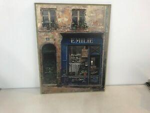 Chiu Tak Hak French Paris Store Fronts Emilie Wall Hangings Wooden Plaque