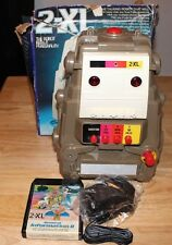 VINTAGE 1970'S TYPE 2  MEGO TOY 2XL TALKING ROBOT WITH 8 TRACK TAPE TESTED WORKS