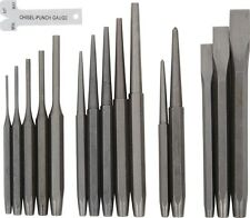 16pc Industrial Mechanics Punch & Chisel Set Pin Tapered Center Cold Roll Gauge