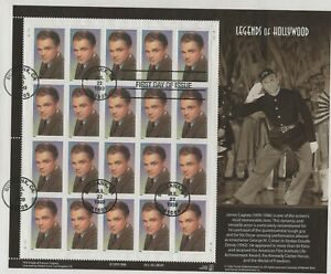 USA 1999 FIRST DAY COVER FULL SHEET LEGENDS OF HOLLYWOOD JAMES CAGNEY