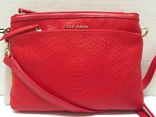 NWT Cole Haan Reddington Leather Crossbody Purse Tote Bag Red $198