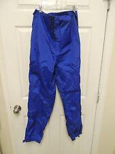 Vintage REI BLUE GORE-TEX WIND RAIN SHELL PANTS GORETEX FULL ZIP SIDE M