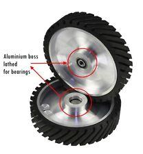 Serrated Belt Grinder Contact Rubber Wheel High Quality Aluminum Polisher 250*50