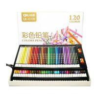 120 Colors Oil Art Pencils Drawing Set Sketching Artist Painting Pen Student Kit