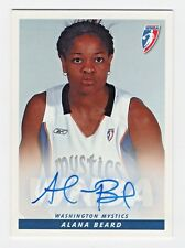 2005 WNBA Authentic Original Autograph Alana Beard Washington Mystics