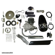 80cc 2-Stroke Motor Engine Kit Gas for Motorized Bicycle Bike Engine Silver