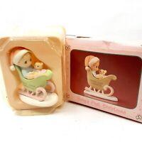 Enesco Precious Moments Miniature Christmas Figurine Baby's First Christmas