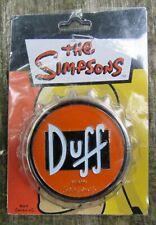 """Vtg DUFF BEER Belt Buckle 3D Bottle Cap 2008 Simpsons TV SHOW NISP 3"""" RARE NEW"""