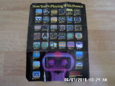Nintendo NES Now You're Playing With Power 1987 Promo Poster / Insert