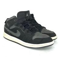 Nike Boys Air Jordan 1 BQ6932-012 Gray Black Sneaker Shoes Lace Up Size 2 Y
