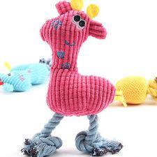 Lovely Pet Cat Dog Puppy Chew Squeaker Squeaky Plush Sound Giraffe Training Toys