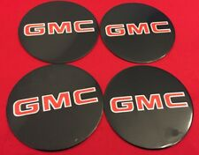 4X GMC Sierra Yukon VAN 1500 2500 3500 Wheel Center CAP'S EMBLEMS BLACK LOGO