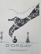 1951 D'orsay Divine Le Dandy intoxication perfume leg art ad