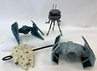 1995 Lot of 4 Lucas Film Star Wars Action Fleet Tie Fighter Viper Probe Vehicles
