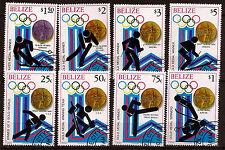 BELIZE Serie de 8 timbres oblitérés N°A69 Medailles d'or 1980 Bien coté  165T1