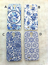 3D Carved Flowers Ceramics Pattern Printed Case for Samsung Galaxy S IV S4 i9500