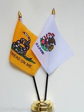 Gadsden & Illinois Double Friendship Table Flag Set