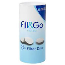 Brita Fill and Go Filter Disc for the original Fill&Go that uses straw Pack of 8