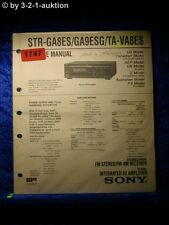 Sony Service Manual STR GA8ES / GA9ESG / VA8ES Receiver  (#1747)