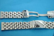 Stahlband massiv poliert 22mm diagonale Glieder