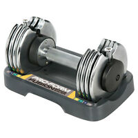ProForm SpaceSaver Adjustable 25 Pound Single Dumbbell Weight with Storage Tray