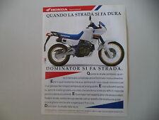 advertising Pubblicità 1990 HONDA NX 650 DOMINATOR