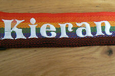 personalised luggage / suitcase straps . twin pack rainbow strap