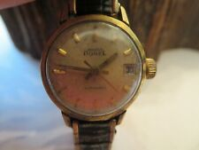 Vintage Ladies Ernest Borel Automatic Gold Plate Watch Running PW1
