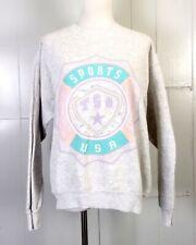 vtg 80s pastels TRENDS tsg Trends Sports Gear Sweatshirt puffy paint One Size