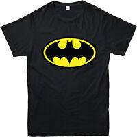 Batman T-Shirt Traditional Symbol T Shirt DC Comics Inspired Logo Gift Top