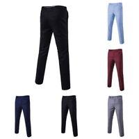Men's Formal Business Dress Pants Slim Fit Casual Straight Leg Trousers Suit