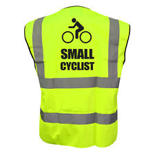 HI VIZ VIS SMALL CYCLIST KIDS VEST FANCY DRESS JOKE CUSTOM WAISTCOAT CHILD