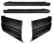88-98 Chevy GMC Extended Cab Pickup Slip on Rocker panels & Cab Corners Kit 4 PC