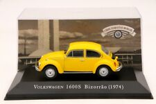 1:43 Altaya Volkswagen 1600S Bizorrao 1974 Diecast Models Cars Collection Yellow