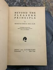 1920 BEYOND THE PLEASURE PRINCIPLE - Sigmund Freud Sex 1st Edition Collectible