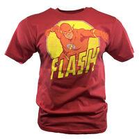 The Flash Men's T-shirt Vintage Graphic Tee DC Comics Universe Batman Comi Con.
