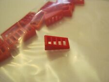 Lego Lot Of 14 Red 1x2x2/3 Slopped Grill Plates #61409 (028-53)