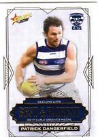 2018 AFL SELECT FOOTY STARS GEELONG BEST FAIREST CARD PATRICK DANGERFIELD BF7