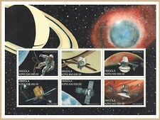 Angola 1999 First Man on Moon set of 4 miniature sheets MNH Sc#1107-08/1109-10