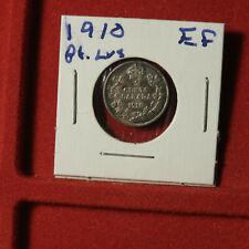 Canadian 1910 5 Cent Pointed Leaves EF Condition